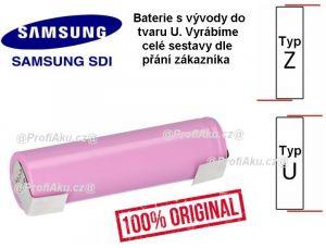 Baterie Samsung INR 18650 - 35E 3450mAh - 10A vývody U