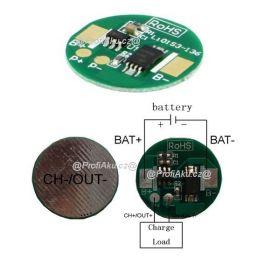 BMS pro Li-Ion Li-Pol baterie 1S 3,6V - 3,7V 2,5 A 18,5 mm kulatý