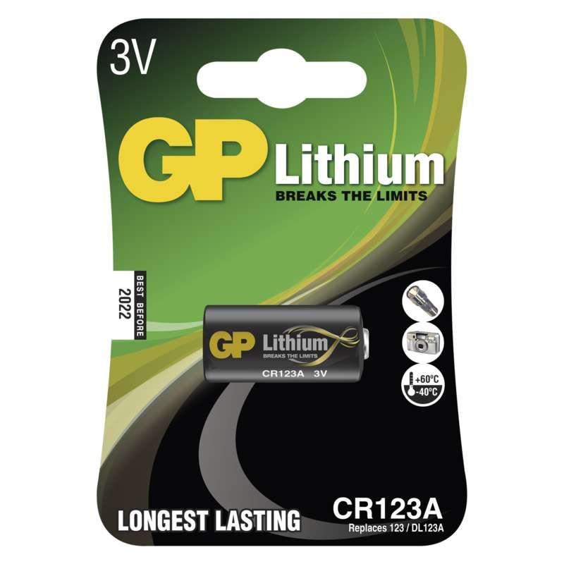 Lithiová baterie GP CR123A