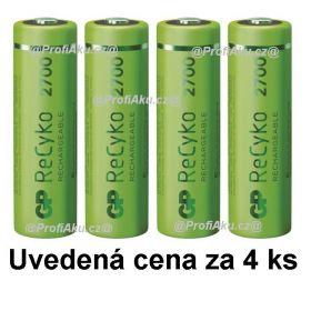 Nabíjecí baterie GP ReCyko 2700 AA (HR6) - 4ks