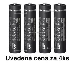Nabíjecí baterie GP ReCyko+ Pro Prof. 800 AAA, HR03 - 4ks