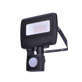 Solight LED reflektor Easy se sensorem, 10W, 800lm, 4000K, IP44, černý