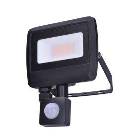 Solight LED reflektor Easy se sensorem, 20W, 1600lm, 4000K, IP44, černý