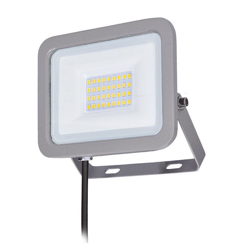 Solight LED reflektor Home, 30W, 2250lm, 4000K, IP65, šedý