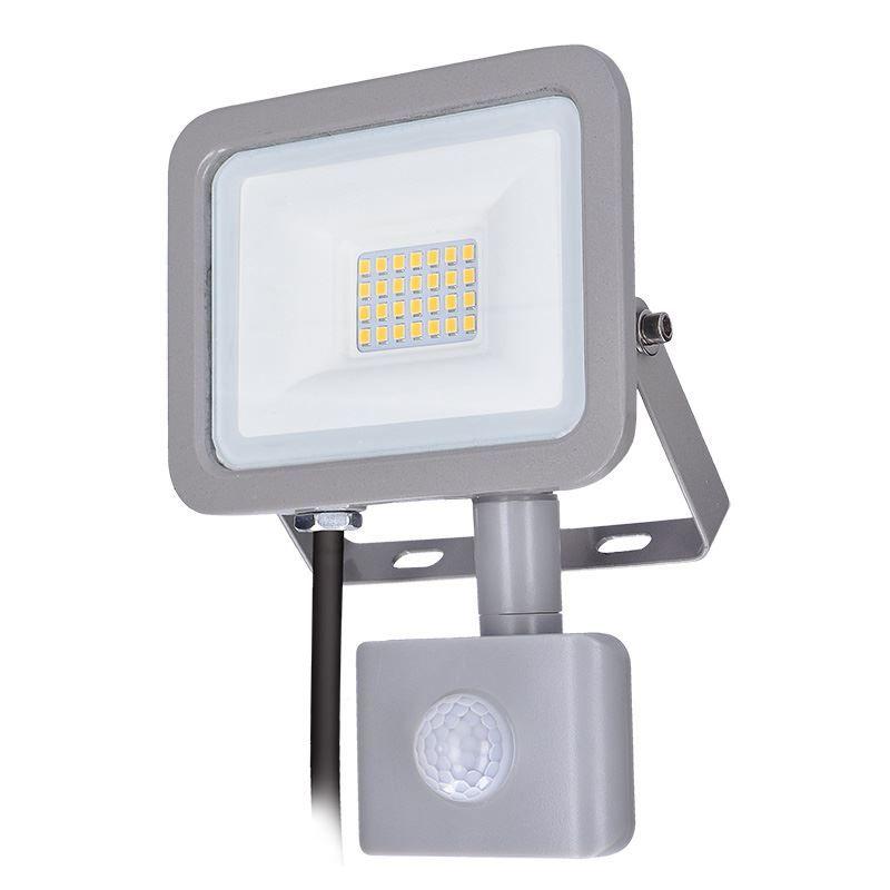 Solight LED reflektor Home se sensorem, 20W, 1500lm, 4000K, IP44, šedý