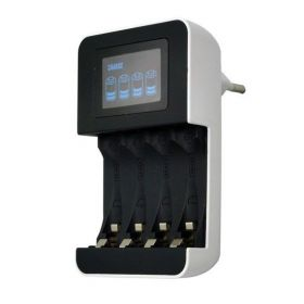 Solight nabíječka s LCD displejem, AA/AAA, řízená procesorem
